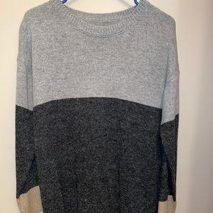 Block sweater dress